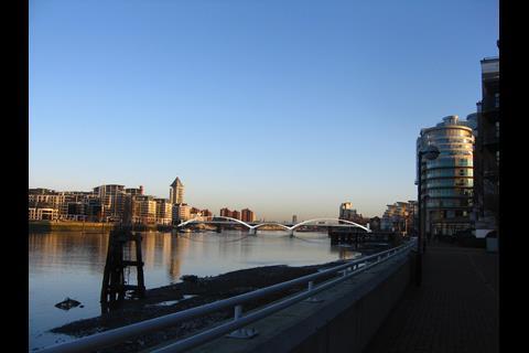 Diamond Jubilee Bridge, west London, designed by One World Design for Battersea-Fulham